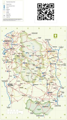 Peak District Map on the Old Glossop Official Websit Chesterfield Derbyshire, England Map, Moving To Australia, Walking Routes, England And Scotland, Peak District, English Countryside, North Yorkshire