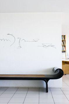 Escritório Oscar Niemeyer  Copacabana   (Foto: Filippo Bamberghi)