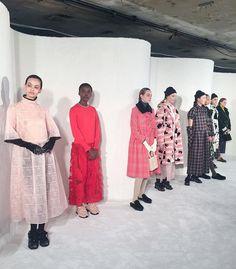 Keepning it pink til @shrimps_  - et samarbejde mellem flere cool kreative; blandt andet danske @ganni der stod bag alle de femicool sneaks  #lfw #london #ELLEiLondon  via ELLE DENMARK MAGAZINE OFFICIAL INSTAGRAM - Fashion Campaigns  Haute Couture  Advertising  Editorial Photography  Magazine Cover Designs  Supermodels  Runway Models
