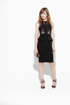 Black Lace Sheath dress/ Elie Saab Resort 2013