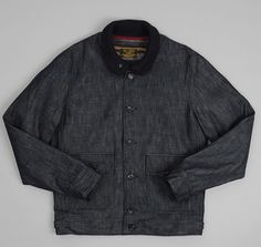 J.S. HOMESTEAD x Hickoee's: The Hill-Side A-1 Jacket, Indigo Denim