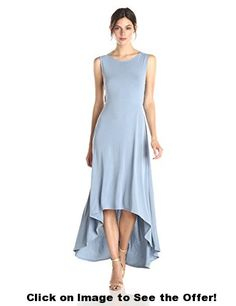 BCBGMax Azria Women's Fara High Low Dress with Twist Open Back