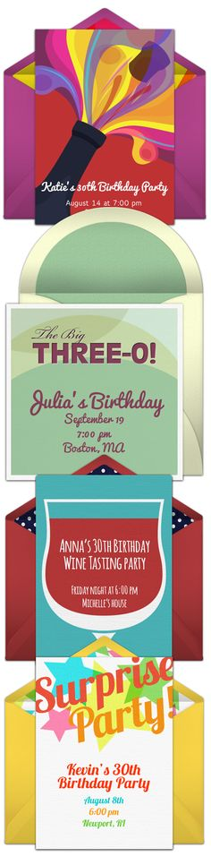 Four of our favorite free 30th birthday invitations. Digital birthday invites are a great alternative to DIY paper options.