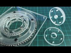 DIY mini CNC machine part 16 (acrylic gears/bearings) Machine Parts, Cnc Machine, Gears, Stitch, Mini, Youtube, Full Stop, Gear Train, Stitching
