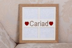 Ffrâm Cymraeg Cariad Welsh 'Love' frame by CornelDawn on Etsy