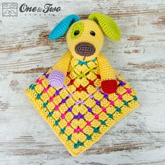 Scrappy the Happy Puppy Lovey / Security Blanket  PDF Crochet