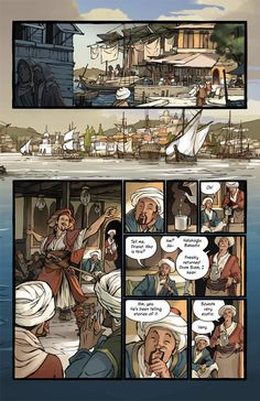 Delilah Dirk and the Turkish Lieutenant by Tony Cliff. Now available in paper form, it's a great action tale with a strong female antagonist. :)