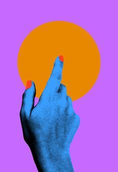 Touch Here Art Print by Tyler Spangler - X-Small Graphic Design Posters, Graphic Design Inspiration, Arte Pulp Fiction, Tyler Spangler, Funky Art, Hippie Art, Arte Pop, Buy Prints, Grafik Design