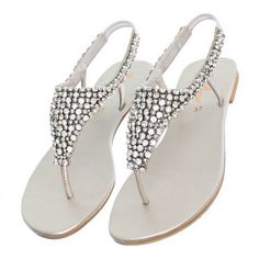 formal flat silver sandals for wedding   ... silver party wedding sandals size 3 8 product description flat sandals