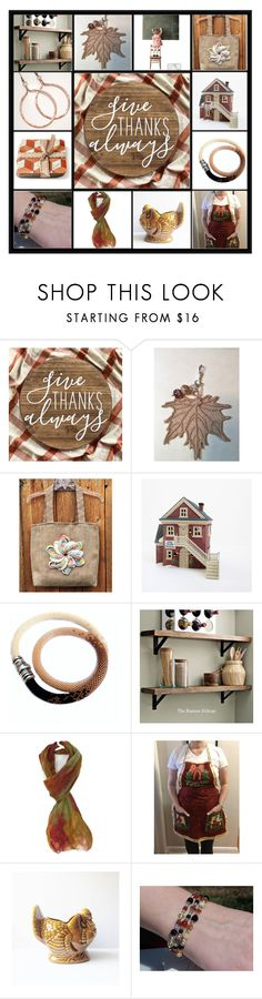 """""""Give Thanks Always"""" by jarmgirl ❤ liked on Polyvore featuring Hostess and vintage"""