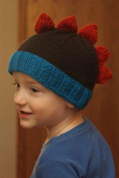 """dinosaur hat (""""Roar"""" pattern on Ravelry knit by bean4680)  #knitting"""