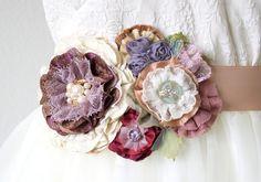 purple bridal sash