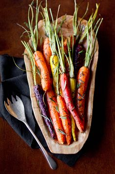 Rosemary roasted heritage carrots!