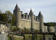 Chateau de Josselin, Morbihan, XIVème siècle.