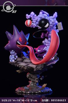 Moon Shadow Gengar Family 1//6 Resin Model Painted Anime Collection Transparent