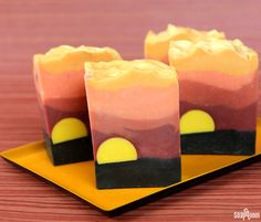 Soap design inspiration can come from anywhere. From fragrances to color, places and people, inspiration can strike at any moment. This Sahara Sunset Cold Process was inspired by the iconic image of an African sunset. As the bright yellow sun sets over the landscape, thesilhouettes of wildlife and flora come to life. The bright yellow …