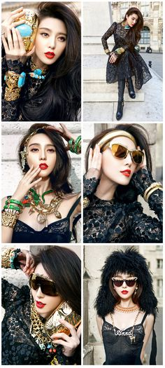 Fan Bingbing 范冰冰    Anna Dello Russo x H (China)   Photographer: YUANYIZHANG & XAVIERANCARNO   Make-Up & Hair: Christopher BU