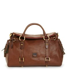 Dooney   Bourke Florentine Vaccheta Pebble Leather Satchel Handbags    Accessories - Macy s 01c6ccda14446