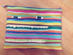 Hand made clutch / stripe