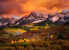 San+Juan+Mountains | An eruption of color in the San Juan Mountains of Colorado as the ...