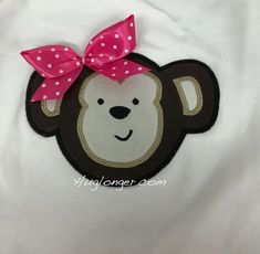Applique Monkey embroidery file