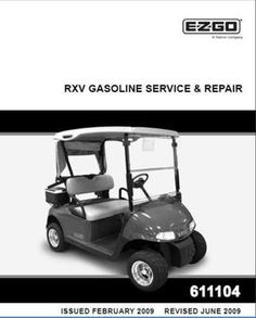 EZGO 28572G01 2000 Technicians Repair and Service Manual for Gas ST350//Sport Utility Vehicle