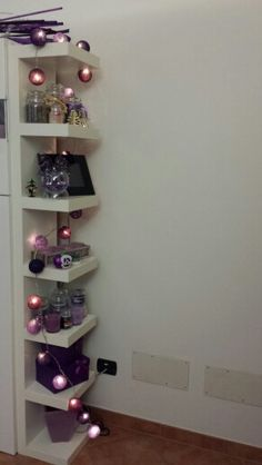 Purple balls christmas lights from Paris