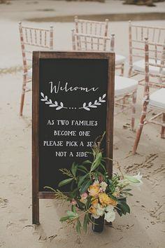 Ceremony sign / Ryder Evans Photography