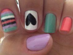 Multi color/ pattern nail art