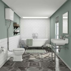 Newbury Traditional Back-to-Wall Roll Top Bath Suite, bring a glorious period style to your bathroom with the our stunning collection of traditional bathroom suites. Bad Inspiration, Bathroom Inspiration, Style At Home, Bathroom Styling, Bathroom Interior Design, Modern Bathroom, Small Bathroom, Bathroom Ideas, Master Bathroom