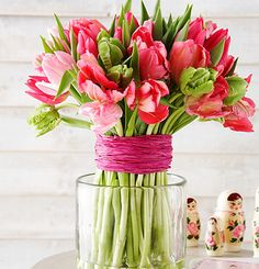 Spring Greetings with Tulips