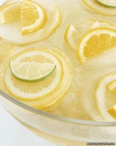 Giant lemon ice cubes using muffin tins.