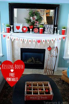 kissing booth free printables