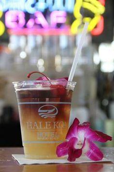 Hale Koa Hotel Famous Mai Tai  1 oz Light Rum 1.25 oz Dark Rum  .5 oz Orange Curacao .5 oz Orgeat 3 oz Pineapple Juice 1 oz Sweet & Sour  *Serve in a bucket glass over ice Add desired garnish – pineapple, lime or orchid flower