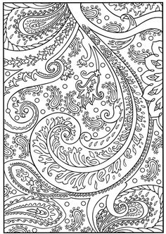 paisley adult coloring page