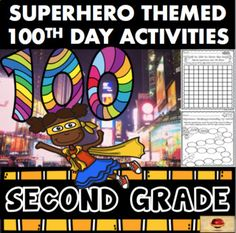 Day of School Superhero Themed {Fourth Grade} Fifth Grade, Second Grade, Superhero Classroom Theme, Math Superhero, Reading Response Journals, Health Lesson Plans, 100 Days Of School, School Stuff, School Safety