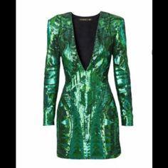 "Selling this ""New Balmain X H&M green sequin embroidered dress"" in my Poshmark closet! My username is: karawood84. #shopmycloset #poshmark #fashion #shopping #style #forsale #Balmain x H&M #Dresses"