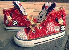 Custom Minnie Mouse Chanel Crystal/Rhinestone Baby/Toddler Converse Bling Shoes on Etsy, $120.00 Oh em geezle! So cute!