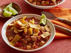 Get Mexican Chorizo and Turkey Chili Recipe from Food Network