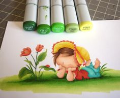 Whiff of Joy - Tutorials & Inspiration: No-line coloring with Copic markers