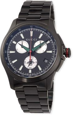 9f8fac1592d 44mm G-Timeless Chronograph Watch Black. Gucci WatchGucci MenGucci GucciBlack  Stainless SteelOnline ...