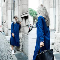 Alison Liaudat - Zara Denim Dress Shirt, Backpack, Adidas Stan Smith Mid - Diversity, Hello Berlin.