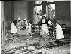 The aftermath of a bombing at a hospital in November, 1940 (Frank Rust / Daily Mail / Rex Features)