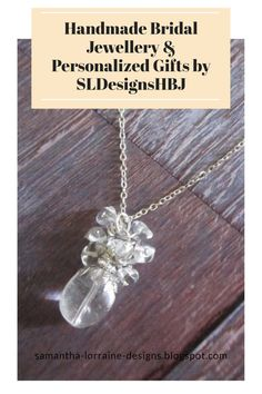 This natural crystal quartz gemstone is set with antique silver filigree and a cluster of smaller crystal quartz natural stones. It hangs from a sterling silver chain and is finished with an Italian clasp. This birthstone necklace would also make a really thoughtful gift for an Aries or Taurus lady born in the month of April! The cluster gemstone drop is approximately 2 inches long. Stone is 20mmx15mm #crystalnecklace #gemstonenecklace Quartz Crystal Necklace, Gemstone Necklace, Crystal Jewelry, Bridesmaid Bracelet, Bridal Bracelet, Handmade Bridal Jewellery, Wedding Jewelry, Silver Filigree, Antique Silver