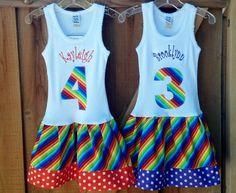 rainbow dress but use a t-shirt instead