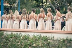 Mismatched Bridesmaid Dresses in Neutral Colors Mismatched Bridesmaid Dresses, Beautiful Bridesmaid Dresses, Bridesmaid Flowers, Wedding Bridesmaids, Wedding Dresses, Neutral Wedding Colors, Neutral Colors, Wedding Inspiration, Wedding Ideas