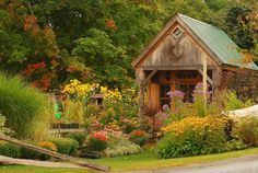 Quaint-Rustic Garden House early Autumn by BlTZy