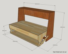 Looking at our website is time well spent. Learn about king size murphy bed. Check the webpage for more information. Cama Murphy, Murphy Bunk Beds, Build A Murphy Bed, Murphy Bed Desk, Murphy Bed Plans, Folding Furniture, Multifunctional Furniture, Smart Furniture, Space Saving Furniture