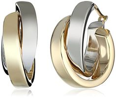 Duragold 14k Yellow and White Gold Crossover Hoop Earrings Amazon Curated Collection http://smile.amazon.com/dp/B0000B35GL/ref=cm_sw_r_pi_dp_Q-grub1QHN8QS