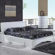 Gia Contemporary Bed with Storage Drawer - $923.99